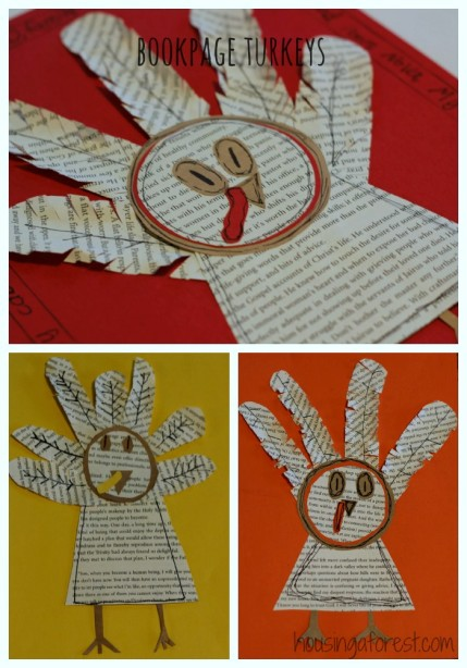 Book Page Turkey ~ Thanksgiving Craft