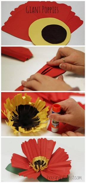 Poppies housing a forest - Remembrance day craft ideas ...