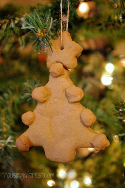 Real Gingerbread Ornaments ~ Kid made Christmas Craft