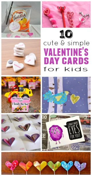 10 cute and simple Valentine Cards for Kids ~ DIY kids Valentines