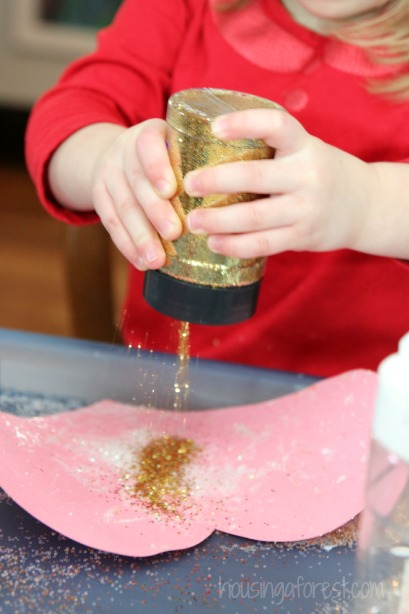 Glitter Marble Painting ~ simple art for kids