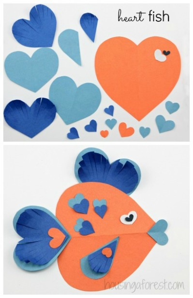 Adorable Heart Shaped Animal ideas ~ simple Valentine craft ideas for kids
