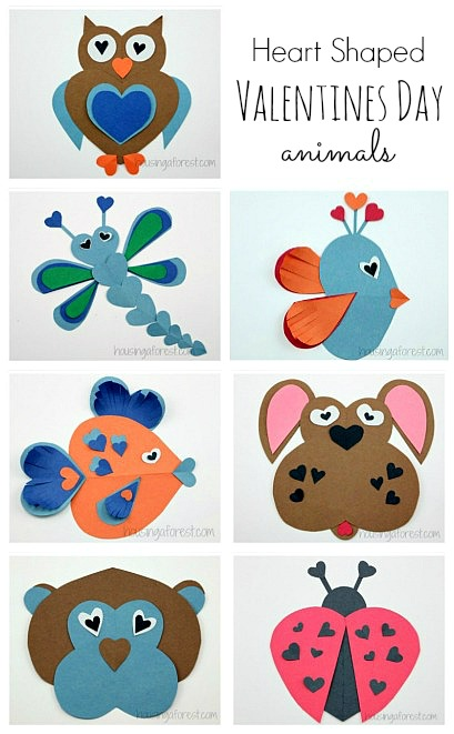 Heart Shaped Animals ~ Valentine Craft Ideas