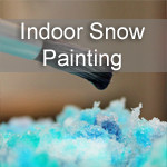 Indoor Snow Painting