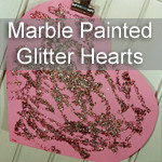 Glitter Marble Painting
