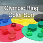 Olympic Ring Bottle Cap Color Sort