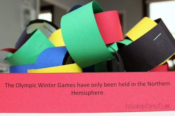 Olympic countdown Paper chain