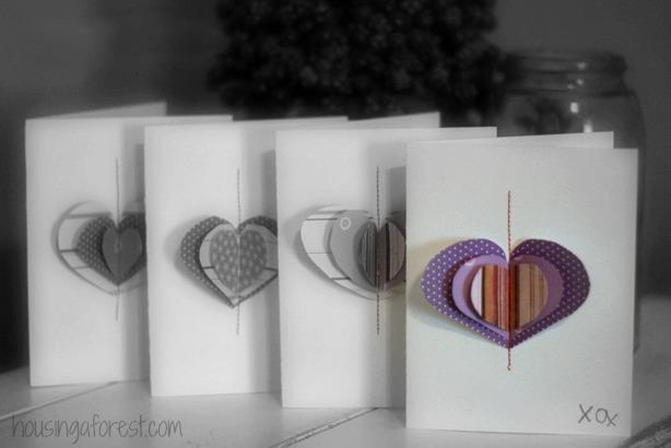 Sewn Heart Valentines ~ DIY Valentines card