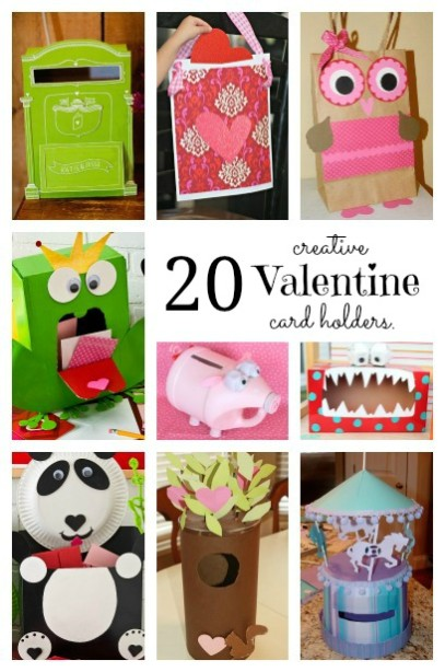 20 Valentines Card Holders  Housing a Forest