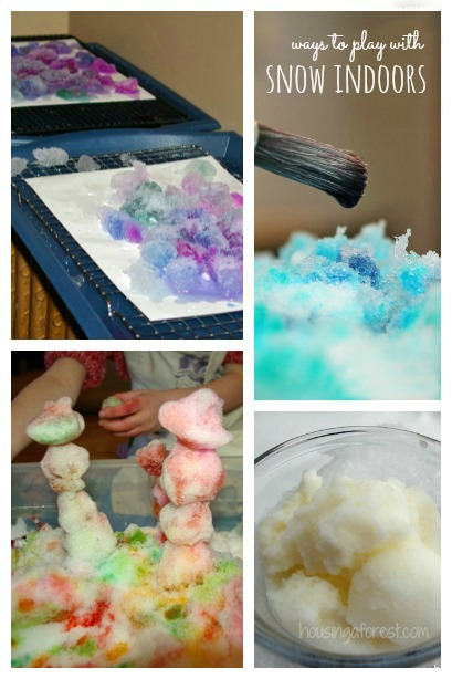 Warm Ways to play in the snow ~ bring your snow indoors!
