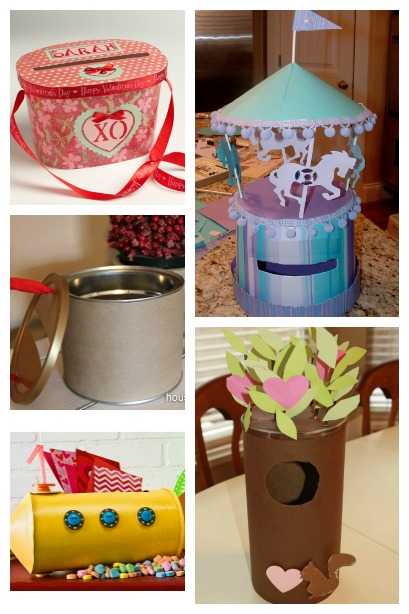 Valentine Card Holders created from a Recycled Container