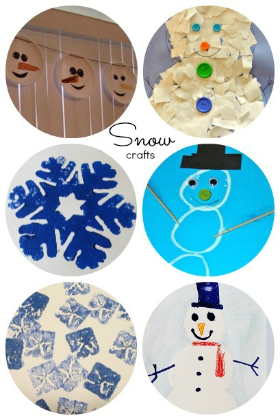 snow crafts for kids to make ~ lots of fun ideas