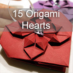 15 Origami Hearts