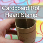 Cardboard Roll Heart Stamp