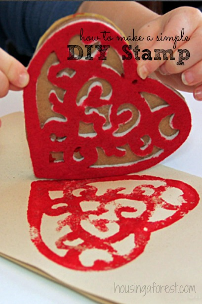 DIY Valentine Stamp ~ simple homemade stamp