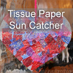 Tissue Paper Heart Sun Catcher