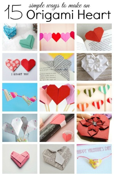 15 simple ways to make an origami heart