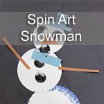 Spin Art Snowman