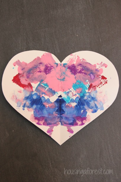 Valentine Symmetry Heart ~ Simple art project for kids
