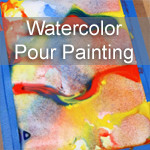 Pour Painting with Watercolors