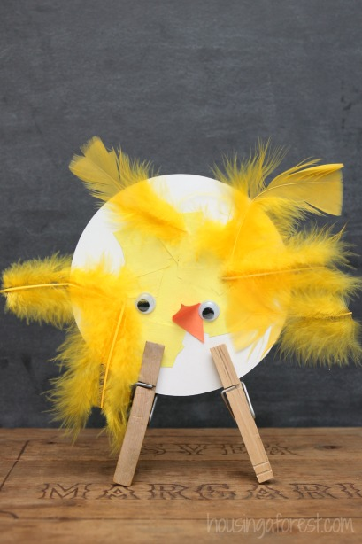 Adorable Spring Chicks ~ simple Easter crafts for kids