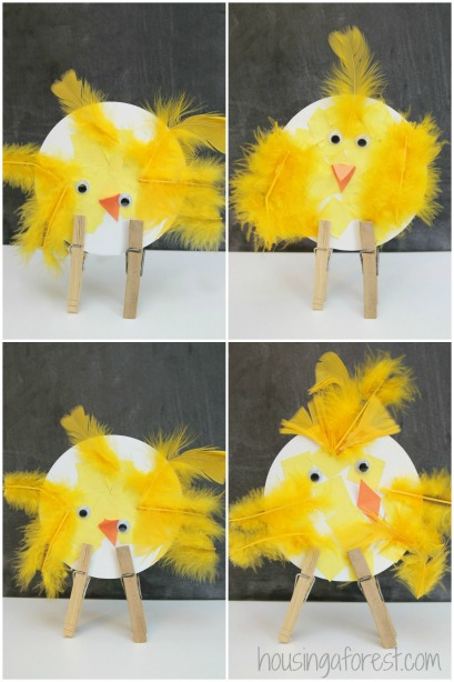 Easter Chicks ~ simple bird crafts for preschoolers