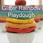Glitter Rainbow Playdough Recipe