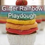 Glitter Rainbow Playdough Recipe
