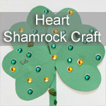 St Patricks Day Activity ~ Heart Shamrock Craft