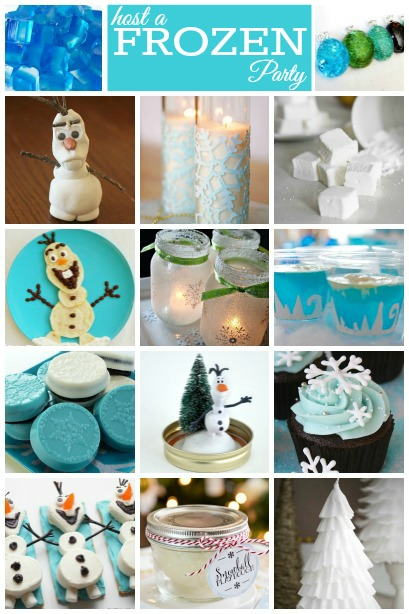 Host a Disney Frozen Birthday Party ~ Lots of creative ideas for Decorations, Food and Games.
