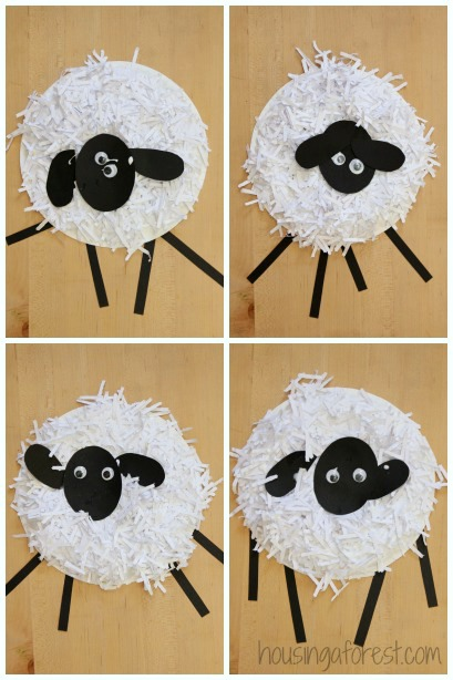 Paper Plate Crafts ~ How to Make a Paper Plate Sheep