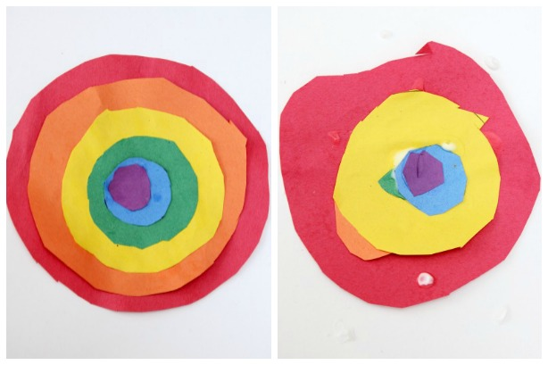 Rainbow crafts ~ simple spring activities for Toddlers