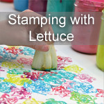 Vegetable Stamps using Lettuce