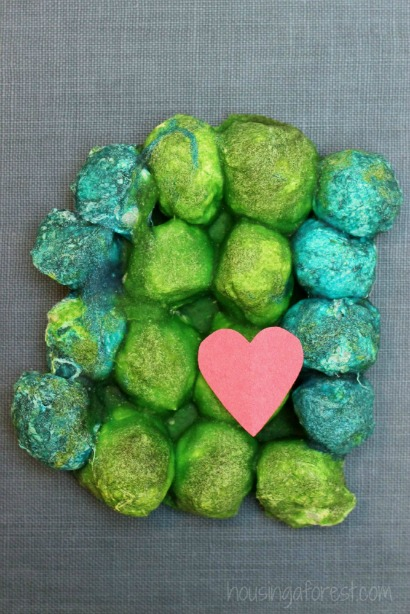 Baked Cotton Balls ~ Earth Day Craft