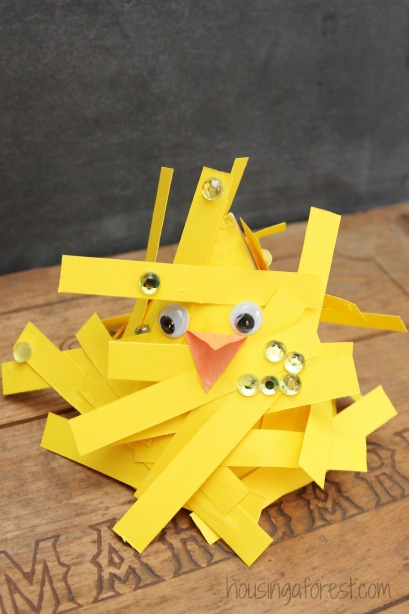 Cone Chicks ~ simple spring crafts for kids