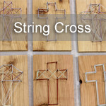 String Art Easter cross