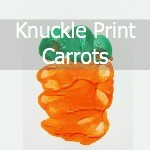 Carrot Handprint Art