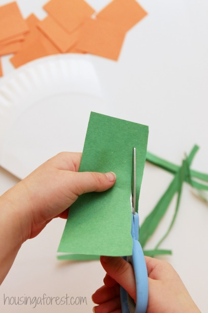how to make a Paper Plate Carrot ~ simple spring preschool craft