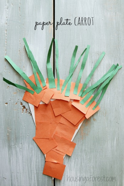 Paper Plate Carrot ~ simple spring preschool craft