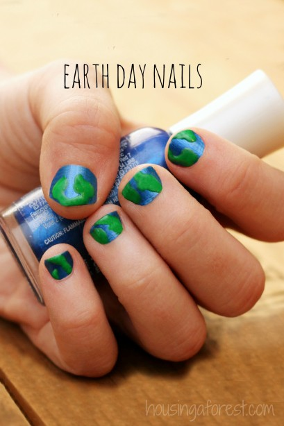 Simple Nail Polish Ideas ~ perfect for Earth Day