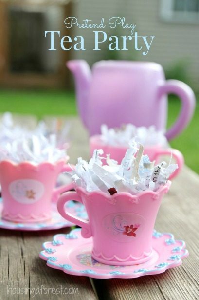Pretend Play Tea Party ~ Sensory Activities for Toddlers