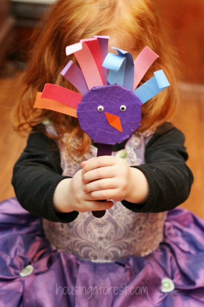 Tape Bird Puppets ~ simply bird crafts for preschoolers