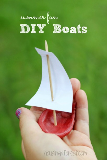 Summer Crafts for Kids ~ DIY Wax Boats.