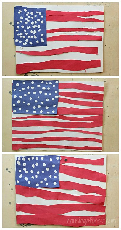 simple american flag craft for kids housing a forest