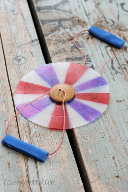 Homemade Toys ~ Button Spinner