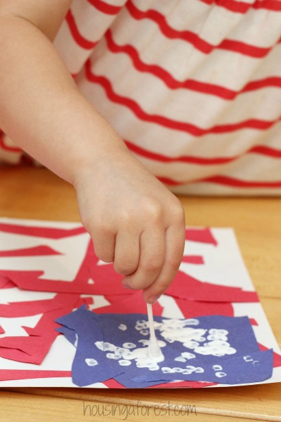 64c05314dac8 Patriotic crafts for kids ~ American Flag Craft for Kids - Great for a 4th  of