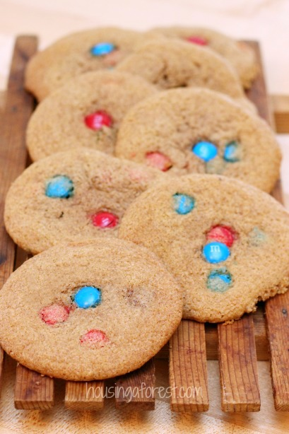 Soft and Chewy M&M Cookies ~ my kids favorite cookie recipe