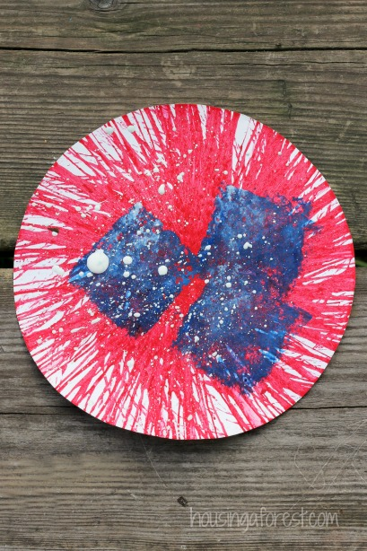 Spin Art American Flag Craft