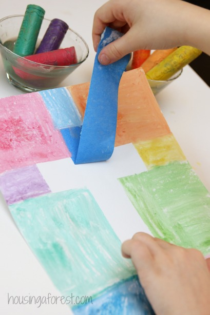 Easy cross craft for kids housing a forest for Craft paint safe for babies