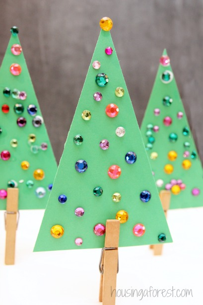Christmas Tree Craft.Jeweled Christmas Tree Craft For Kids Housing A Forest
